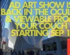 在Westfield WTC和在线的Oculus纪念性屏幕上展示的艺术品