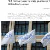 FCA接近完成63亿欧元的国家担保贷款