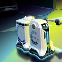 大众推出电动车自动充电机器人原型