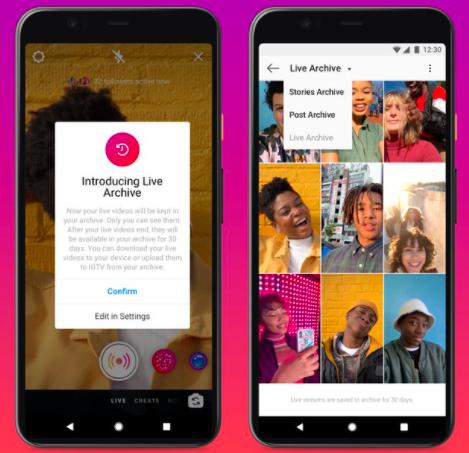 Instagram在其平台上宣布了实时视频的新功能